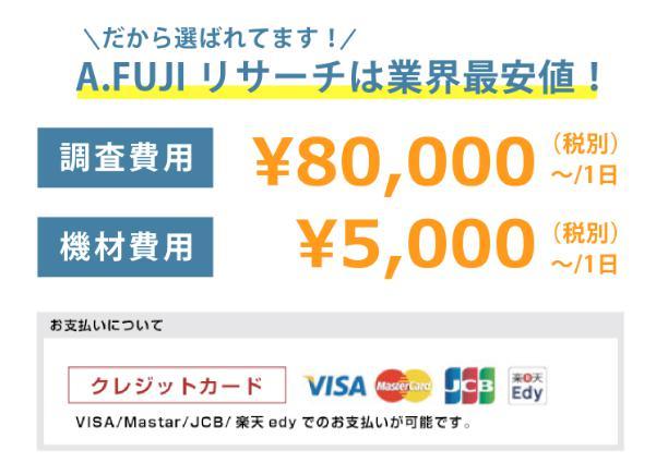 FUJIリサーチの費用
